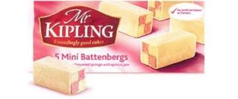 Mr Kipling Mini Battenberg 150g (1/2lb Ship Weight)