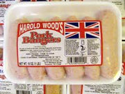 Harold Woods Pork Bangers 6pk 16oz (1lb Ship Weight)