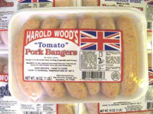 Harold Woods Tomato Pork Bangers 6pk 16oz (1lb Ship Weight)