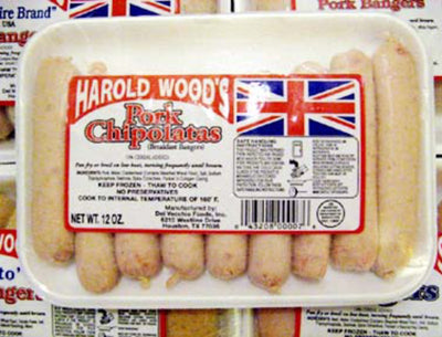 Harold Woods Pork Chipolatas 9pk 16oz (1lb Ship Weight)