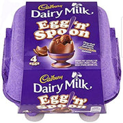 Cadbury Egg & Spoon Double Chocolate Easter Eggs 4pk 136g