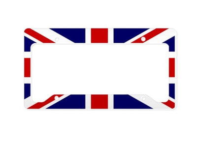 Union Jack License Plate Frame