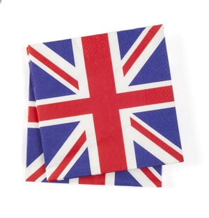 Union Jack Napkins 20pk