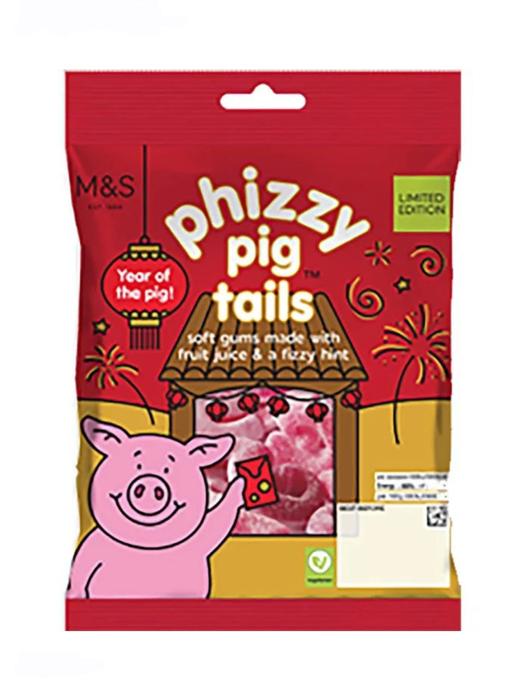 Marks and Spencers Phizzy Pig Tails 170g.