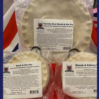 British Depot Steak & Ale Pie Two Person 15oz (1lb Ship Weight)