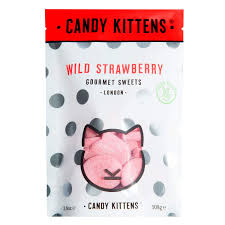 Candy Kitten Wild Strawberry Vegan Sweets 108g