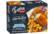 Findus 4 Battered Cod Fillets 440g (1lb Ship Weight)