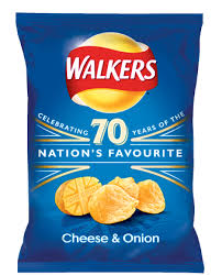 Walkers Cheese & Onion 32.5g.