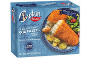 Findus 4 Large Cod Fillets in Breadcrumbs 440g (1lb Ship Weight)