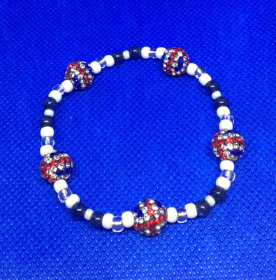 Bead stretch Bracelet - Union Jack with Blue