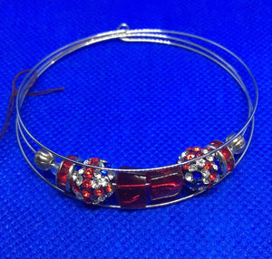 Memory Wire Bangle Bracelet - Union Jack