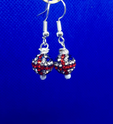 Union Jack Glitter Bead Earrings