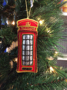 Telephone Box Christmas Ornament