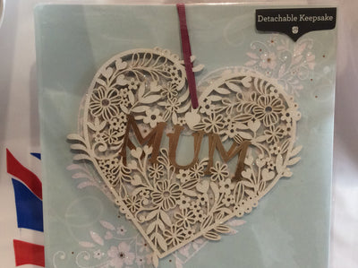 Mum birthday card Glitter keepsake