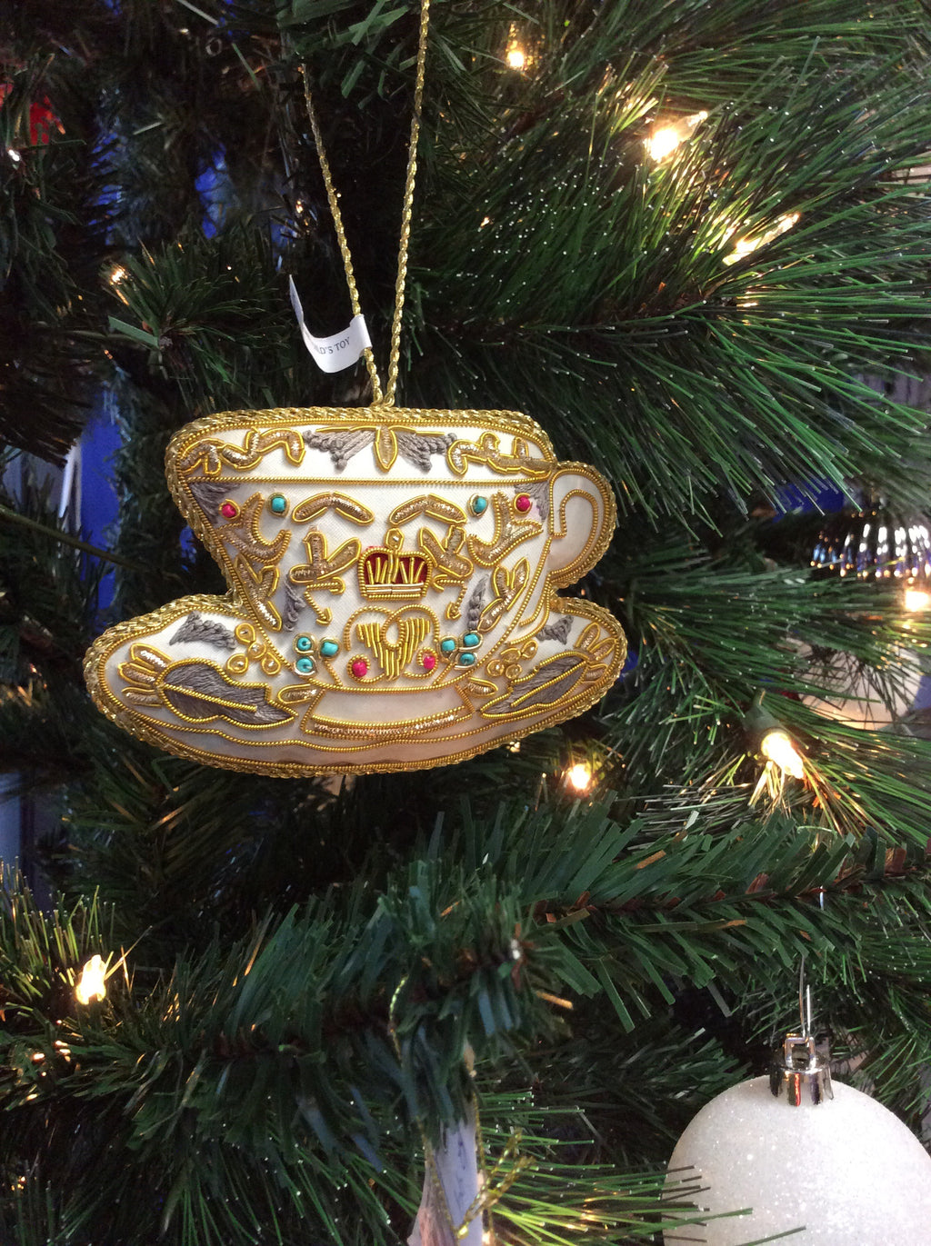 Royal Teacup Christmas Ornament