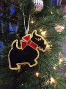 Black Scottie Dog Christmas Ornament
