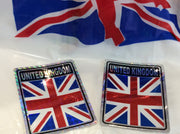 Union Jack Metallic Bumper Sticker