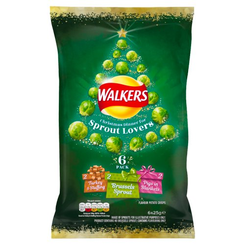 Walkers Christmas Dinner for Sprout Lovers 6 pack 150g