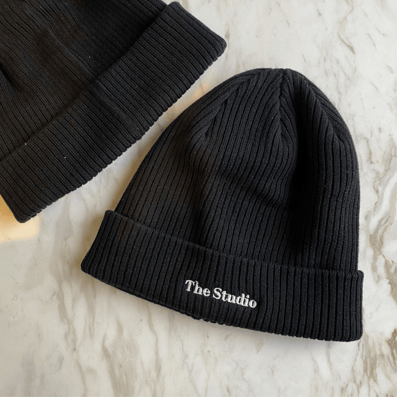 The Studio Organic Ribbed Beanie