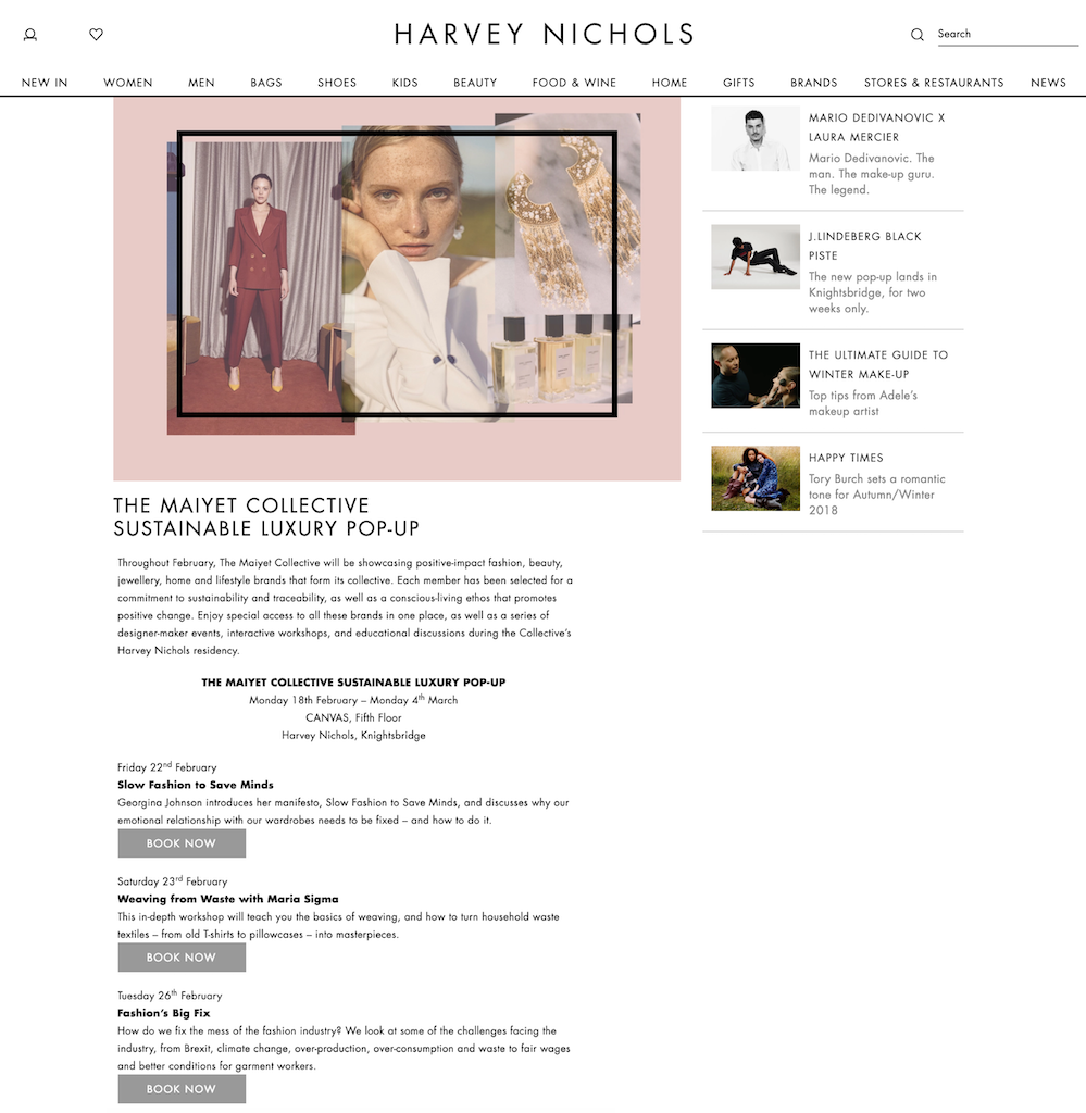Harvey Nichols x Maiyet collective