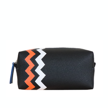 Toiletries Bag - Black, Orange, White