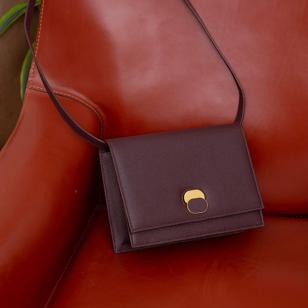 """APHRA"" SHOULDER BAG - BURGUNDY"
