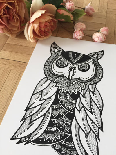 Ulloo the Owl Mandala