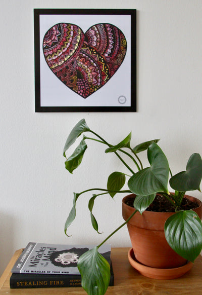 Color Love Heart Mandala - Mandalove