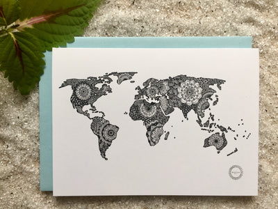 Worldmap Postcard