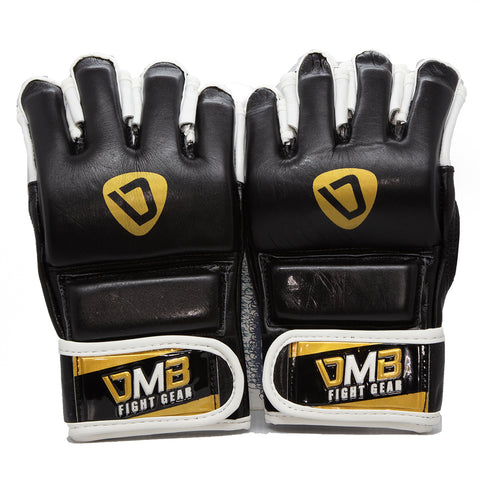 DMB Gold Elite Leather MMA Gloves