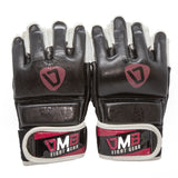 DMB Maroon Elite Leather MMA Gloves