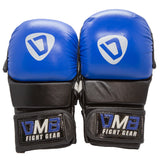 DMB Power Blue MMA Shooter Gloves