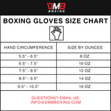 Leather Boxing Gloves Sizing Chart