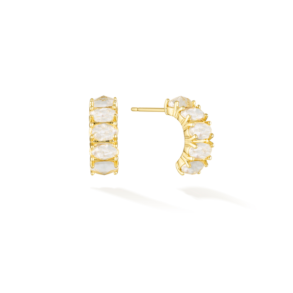 Perfect Illumination - April Birthstone Earrings (Diamanté)