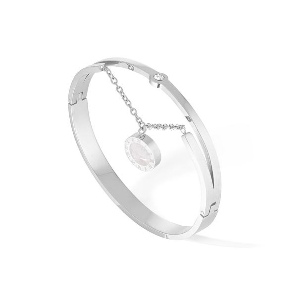 Artemis & Luna Bangle - Silver