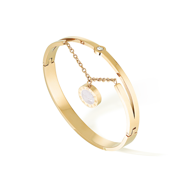 Artemis & Luna Bangle - Yellow Gold
