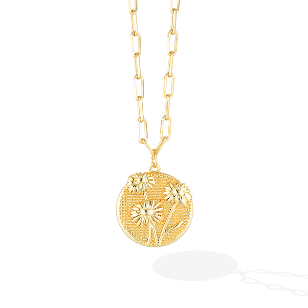 April Birthflower Necklace - Dazzling Daisy