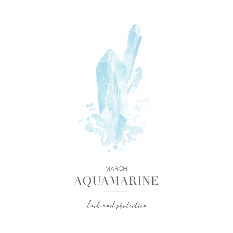 Calm the Sea - March Birthstone Ring (Aquamarine)