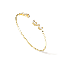 Baguette Jewels Cuff - Yellow Gold