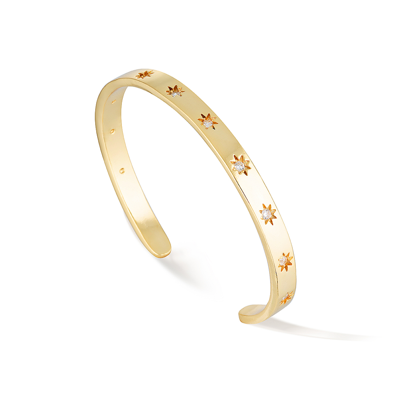 Celestial Constellation Cuff - Yellow Gold