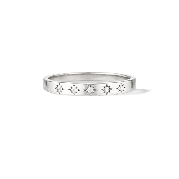 Celestial Constellation Ring - Silver