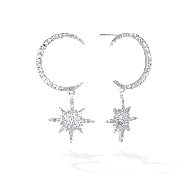 Milky Way Voyage Earrings - Silver