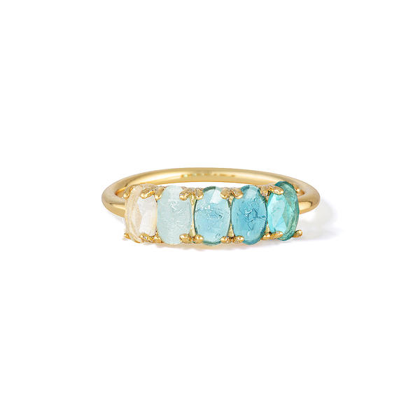 Grounding Guidance - December Birthstone Ring (Blue Zircon)