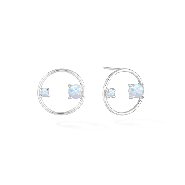 Ring of Jewels Earrings - Silver