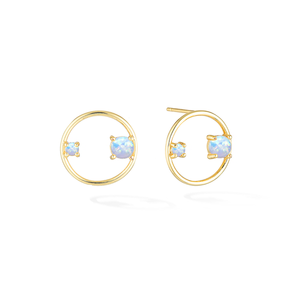 Ring of Jewels Earrings - Yellow Gold