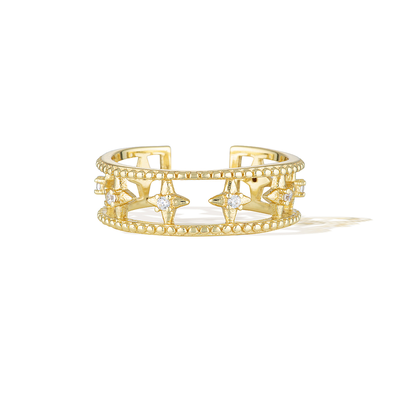 Star Crossed Ring - Yellow Gold