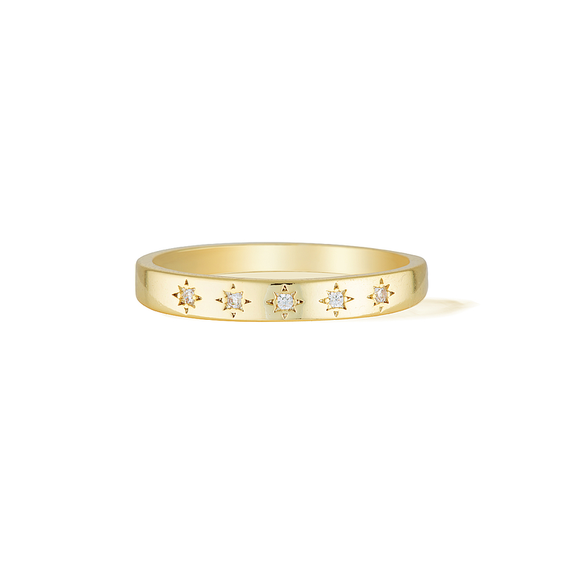 Celestial Constellation Ring - Yellow Gold