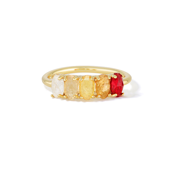 Curative Fire - January Birthstone Ring (Garnet)