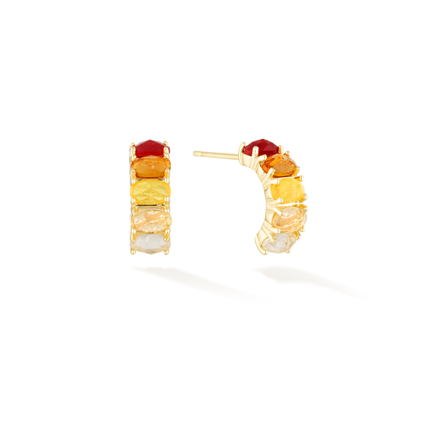 Curative Fire - January Birthstone Earrings (Garnet)