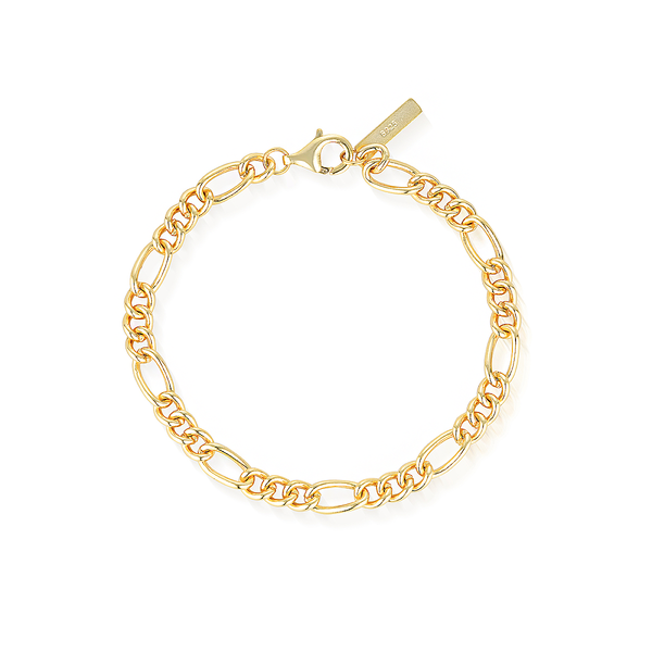 Calabasas Oval Link Bracelet - Yellow Gold